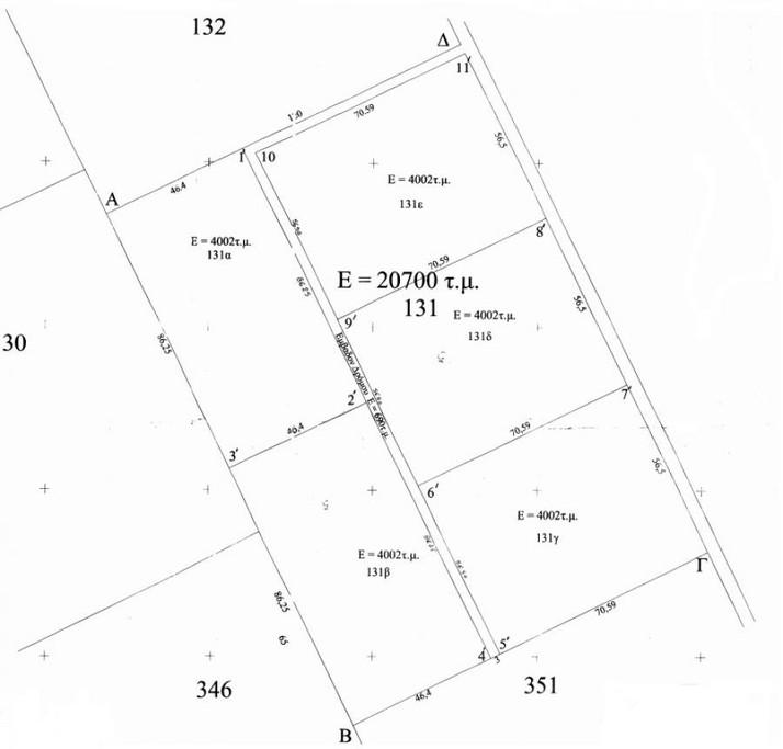 Οικόπεδο 20.700τ.μ. πρoς αγορά-Κασσάνδρα » Σανή