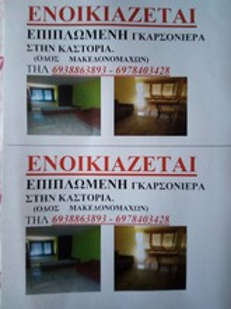 Studio / γκαρσονιέρα 30τ.μ. πρoς ενοικίαση-Καστοριά » Κέντρο