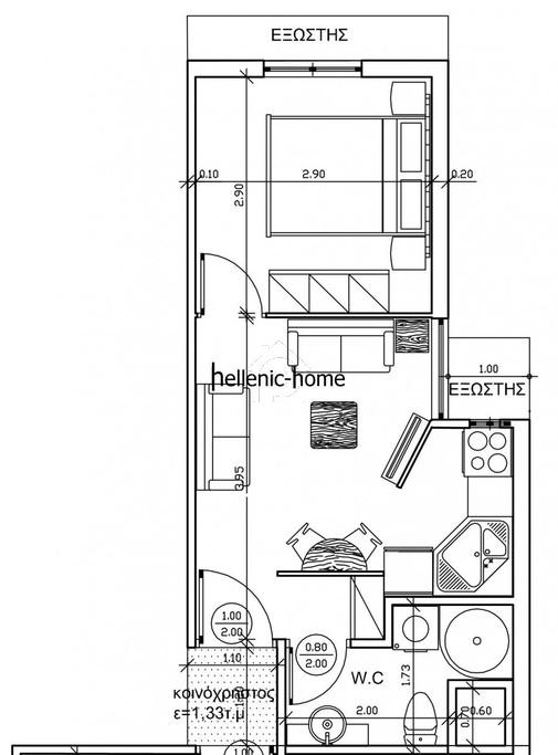 Διαμέρισμα 38 τ.μ. πρoς αγορά, Θεσσαλονίκη - Κέντρο, Τριανδρία-thumb-5