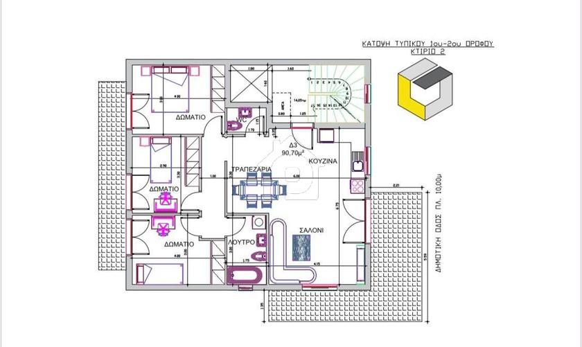Διαμέρισμα 91τ.μ. για αγορά-Αλεξανδρούπολη » Κέντρο
